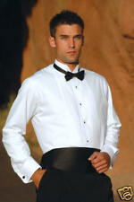 Classic Tuxedo Shirt (White, Wing Collar, Pleated) [Style: M00, Aldo]