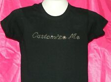 DESIGN YOUR OWN PERSONALIZED RHINESTONE T-SHIRT