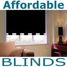 Made to Measure Blinds -  Black Cafe Rod Roller Blind