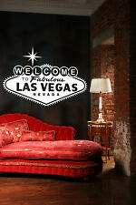 Welcome Sign, Las Vegas Sign, Vegas Wall Decal, Typography Wall Art, Las Vegas