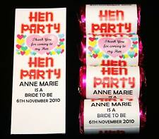 20 Personalised Love Heart Sweet Favour Hen Night Party