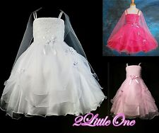 Sequins Embroidery Wedding Flower Girl Formal Dress Pageant Party Size 3T-11 008