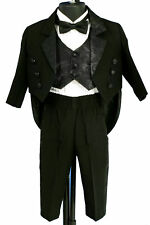 NEW INFANT BOY 5 PCS TAIL PAISLEY TUXEDO BLACK S/M/L/XL/4T