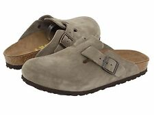 Men's Birkenstock Clogs Boston Taupe Suede