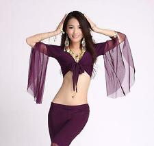 ST06# Belly Dance Costume Choli Flared Top Blouse 9 Colors