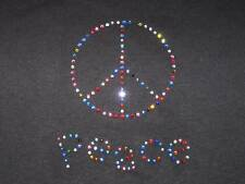 GIRLS/YOUTH  PEACE SIGN CHOOSE COLOR RHINESTONE T-SHIRT