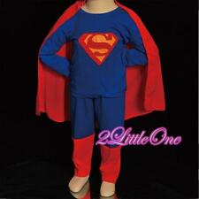 Superman Hero Kid Boy Fancy Halloween Party Costumes Outfit Set Size 2T-7 FC006