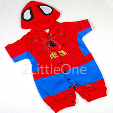 Spiderman Hero Superhero Baby Infant Boy Fancy Costumes Outfit Size 3m-24m FC014