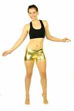 NWT Metallic Shiny Spandex Dance  BOOTY SHORTS S M L XL
