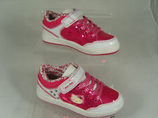 GIRLS HELLO KITTY KIDS TRAINERS (ADELE) WHITE/PINK