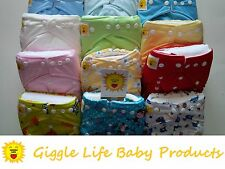 Giggle Life 12 Soft Cloth Diapers Nappy & 24 Inserts