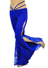 Sexy belly dance Flank Openings Lace Trousers pants