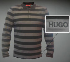 NWT HUGO (Hugo Boss Red Label) by Hugo Boss Long Sleeved Striped Polo Shirt