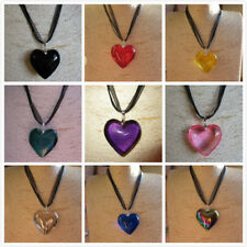 Fab Heart &Teardrop Shaped Glass Pendant Necklace- Choose From 20 Colours