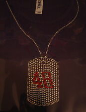 RHINESTONE DOG TAG SHIRT NASCAR 48 JIMMY JOHNSON  S-XXL