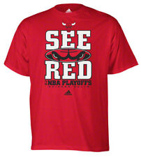 Chicago Bulls T-Shirt Playoffs See Red