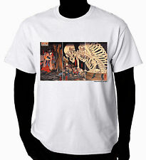 Samurai Tattoo Art T-Shirt  Witch and Skeleton