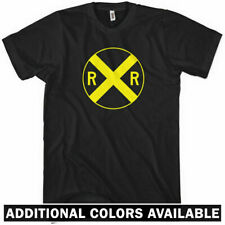 Railroad Crossing Sign T-shirt - RR Train - New XS-4XL