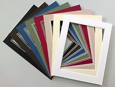 """V-Groove Picture Mounts 12x10"""".Choice of Colours/Sizes."""