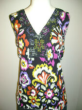 Cable & Gauge Sleeveless Floral Print V-Neck Top NWT