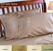 NEW Monogrammed TWIN Sheet Set 100% PIMA Cotton 300 Thread Count Made in the USA