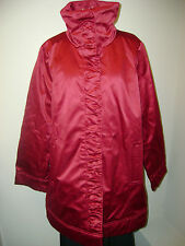 Modernist by Guillaume Water Resistant Jacket w/Ruching Red New Without Tags