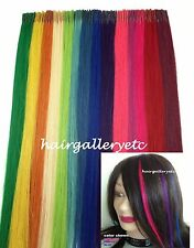 "12"" I tip Fusion 100% Human Hair Extension 10 + FREE Micro Hair Beads Rings USA"