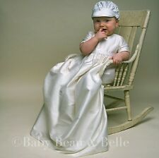 "Baby Beau & Belle ""Jonathan"" Boys Silk Christening and Baptism Gown"