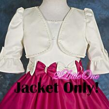 Ivory Beaded  Bolero Jacket Wedding Flower Girl Pageant Party Size 2T-12 CT001