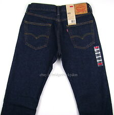 NWT NEW LEVIS 505 STRAIGHT MENS JEANS - RINSED INDIGO