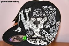 TRIBAL PAISLEY FLAT PEAK CAP, NY FITTED HAT, HIP HOP