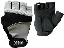 NEW GEL PADDED CYLING / CYCLE / WHEELCHAIR / BIKE / BICYCLE / MTB / BMX GLOVES