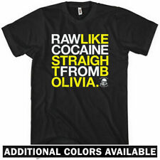 RAW LIKE COCAINE T-shirt Music Drugs Bolivia Wu Tang Hip Hop 36 Chambers XS-4XL