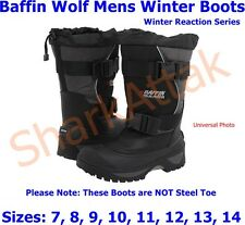 Baffin Wolf Mens Boots, Winter Reaction Series, Sizes: 7 8 9 10 11 12 13 14