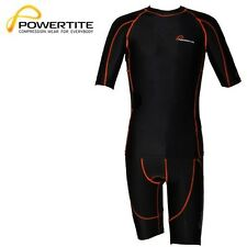 NEW POWERTITE COMPRESSIO​N SHORT SLEEVES TOP & SHORTS TIGHTS SKINS SET
