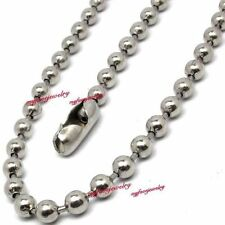 *MONEY BACK* Gurantee 316L Surgical Stainless Steel 3.2MM Ball Chain Necklace