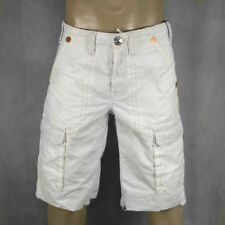 True Religion Jeans men's ISAAC Cargo Shorts WHITE MAR841EH