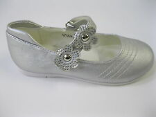 GIRLS SPOT ON SHOES SILVER H2183