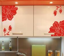 Set of 4 Flower Vinyl Wall Art Graphic Sticker Decals Fashionable Decoration