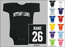 Nittany Lions Baby One Piece, Creeper, Romper Personalized Custom Name & Number