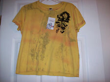 "ED HARDY YELLOW BOYS ""BLACK ROSE OF DEATH"" T-SHIRT NEW WITH TAGS"