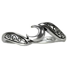 SS Sterling Silver Crescent Moon Ring Sz 4-15 Lunar Goddess Jewelry Wicca Pagan