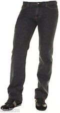NWT $225 Versace Collection Jeans Trend Straight Leg Jeans in Black (Dark Gray)