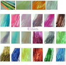 "300S 28"" silk hair tinsel for human / feather hair extensions ,29 color option"