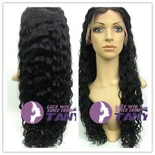 "Lace Front Wig Soft Spanish Wavy Indian Remy Full Human Hair  20""-24"" 1#"