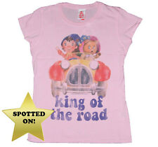 Too Late To Dye Young Noddy king Of The Road Womens T-Shirt,Retro,Kitsch,Cartoon