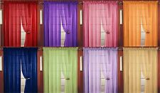 SHEER VOILE WINDOW CURTAIN PANEL, 18 COLORS, QUALITY SHEER CURTAINS - 55X84