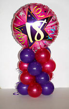 16TH-60TH FOIL PINK/PURPLE BIRTHDAY BALLOON DISPLAY TABLE CENTREPIECE DECORATION