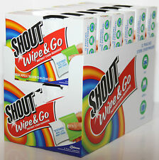 Shout Wipe & Go Instant Stain Remover Select from 36 72 144 or 288 Shout Wipes