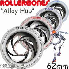 ROLLERBONES Roller Derby Aluminium Turbo Wheels x8 Alloy Core 85a, 88a, 92a, 97a